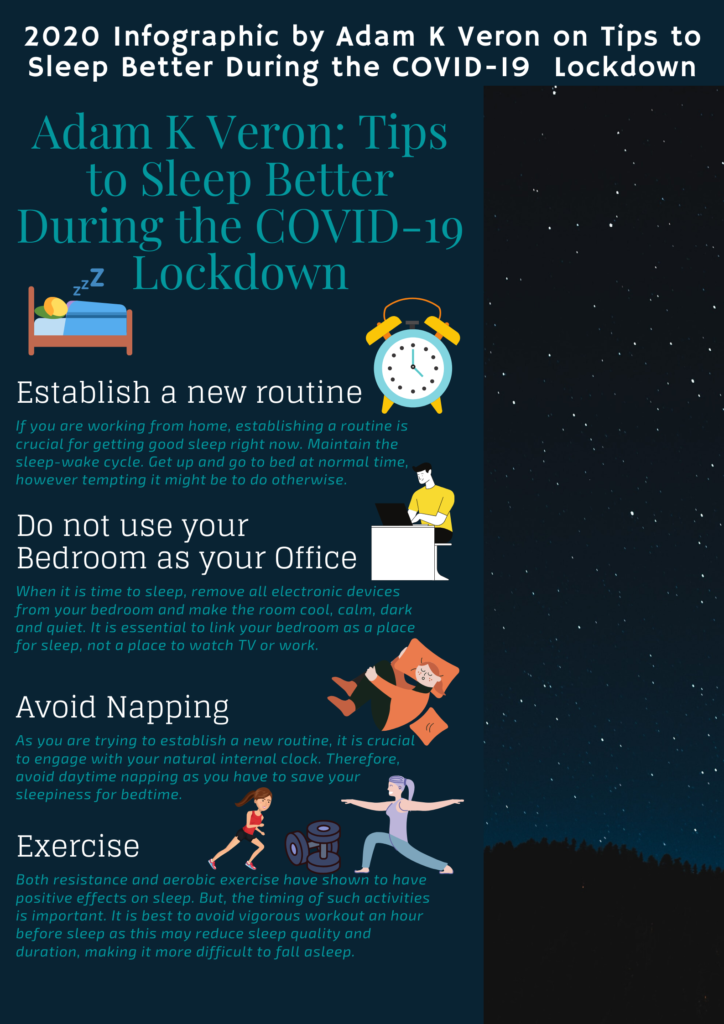 Adam K Veron_ Tips to Sleep Better During the COVID-19 Lockdown